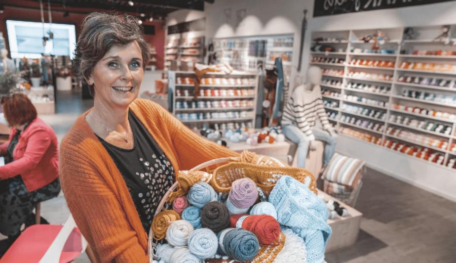 Afbeelding voor Wij verkopen geen bolletjes wol, maar inspiratie.
