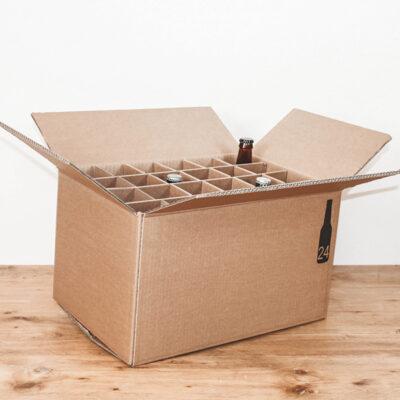 Afbeelding voor Verzenddoos voor 24 bierflessen