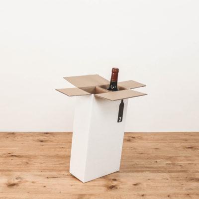 Afbeelding voor Verzenddoos voor 2 wijnflessen – staand