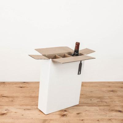 Afbeelding voor Verzenddoos voor 3 wijnflessen – staand