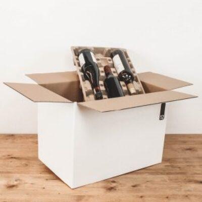 Afbeelding voor Verzenddoos voor 12 flessen – Liggend
