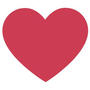 verzendlabel moederdag logo hartje rood