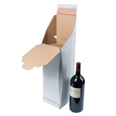 Afbeelding voor Verzenddoos voor 1 wijnfles – staand